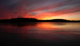 Sunset at Linn Creek Reservoir