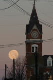 Snow Moon with Courthouse