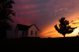 Mt. Zion Church with Sunset