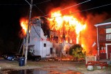 Southbridge MA - Four alarm structure fire; 7 Pearl St. - October 17, 2010