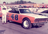 Darrell Waltrip in P. B.'s car.
