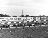 1966 IMCA sprint car race pace lap.