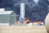 .................Plastics Blaze Lincolnshire .............Hemswell Cliff Fire  25 August 2009