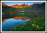 Sunrise Alpenglow at Clear Lake Basin
