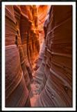 The Glowing Walls of Zebra Slot Canyon