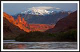 The Fisher Towers at Sunset