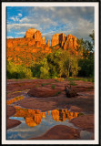 Cathedral Rock Reflected In A Rainwater Pool - Sedona, AZ