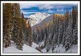 Twilight Peak After Snowstorm