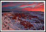 Fiery Sunrise At Bryce Canyon