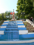 Water stairs, central roundabout