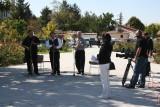 TV interview in rose garden 2
