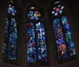 Three windows by Marc Chagall (1974)