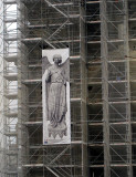 The Angel who Smiles is undergoing renovation