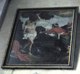 One of several paintings depicting the martyrdom of St. Sebastian