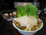 French version of Caesar salad with chicken