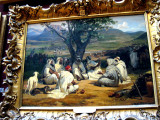 with many orientalist paintings as well as art of the French school