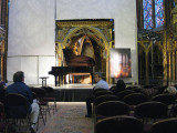 Waiting for a piano concert in Sainte Chapelle