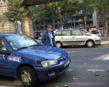 Franceline found a parking spot at the