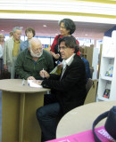 Luc Ferry signs his recent book