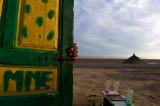 Door of the salt lake Chott el Djerid