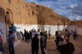 troglodyte underground building in the village of Matmata, Tunisia.