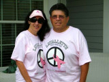 Maria & John Walking in Lavallette for Breast Cancer