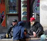 Gentes en la Plaza Mayor