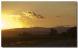 Coucher de soleil, plaine d'Alsace