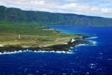Crosswind landing at Kalaupapa  (PHLU)