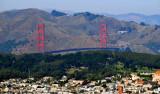 Golden Gate Bridge and Presidio Hill