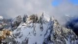 misty over Garfield Mountain