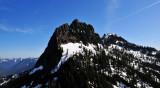 vertical face of Bessemer Mt