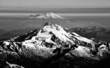 floating Baker over Glacier Peak