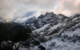 Gunn Peak and Merchant Peak in distant