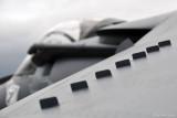 Vortex Generators on Harrier Jet
