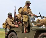 Reenactors cruise the airshow