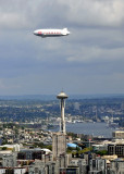 Zeppelin over Space Needle