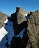 challenging route to summit
