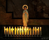 Pray and candles