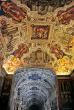 art  inside the Vatican Museums hallway