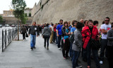 long line for Vatican Museums