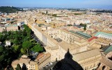 Vatican Museums and garden from St Peters Basilica
