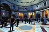 tourists inside Pantheon
