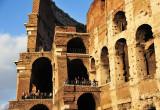 sunset on Colosseum