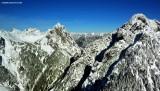 Sperry Peak on left, Morning Star Peak on right