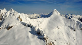 L-R The Needle, The Horseman, Snowfield Peak