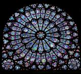 stainglass in Notre Dame