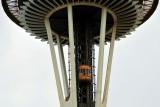 elevators on Space Needle