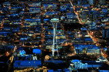 Space Needle in cool blue