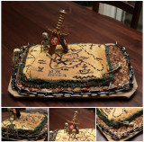 Antonys Treasure Map Cake